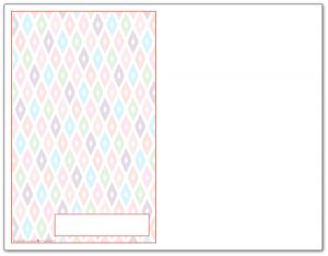 Half-Size Summer Orange Ikat Pattern Printable 2016 Planner Cover Page