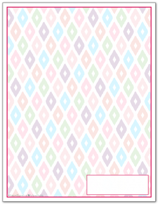 Raspberry Ikat Pattern Printable 2016 Planner Cover Page