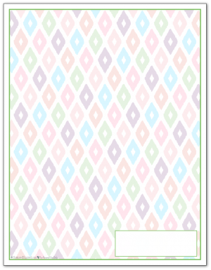 Spring Green Ikat Pattern Printable 2016 Planner Cover Page