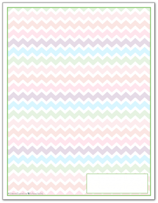 Spring Green Zigzag Pattern Printable 2016 Planner Cover Page