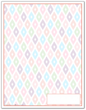 Summer Orange Ikat Pattern Printable 2016 Planner Cover Page