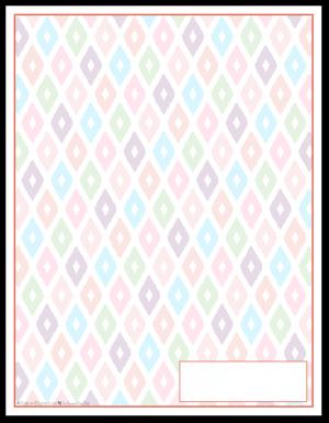 Summer Orange Ikat Pattern Printable 2016 Planner Cover Page