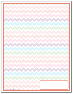 Summer Orange Zigzag Pattern Printable 2016 Planner Cover Page