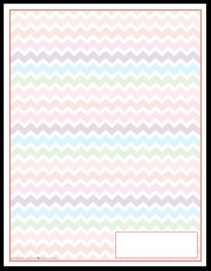 Summer Orange Zigzag Pattern Printable 2016 Planner Cover Page