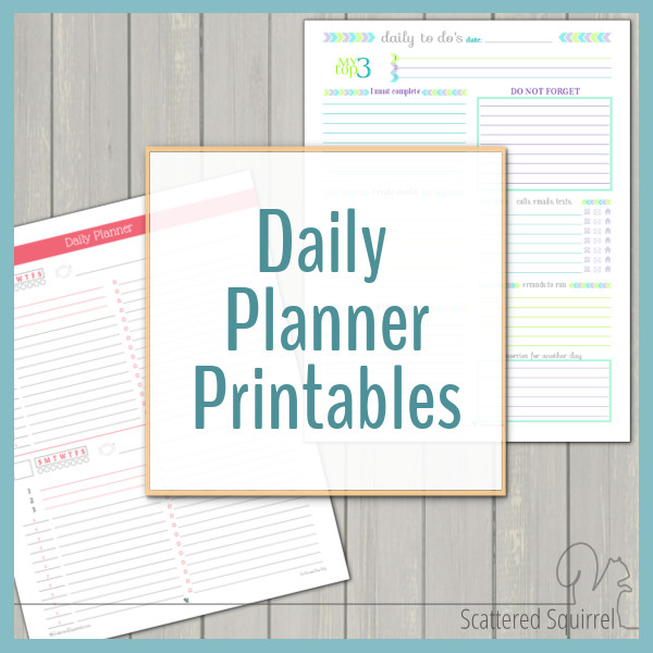 These daily planner printables were designed for those who have busy days and need to a way to stay on track.