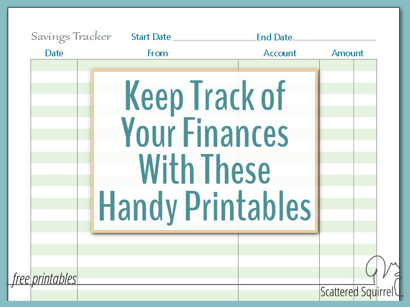 A Few More Finance Printables to Help You Stay on Track