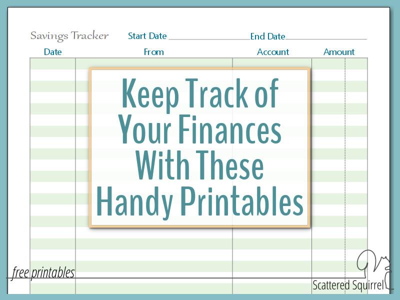 home management printavbles, finance printables