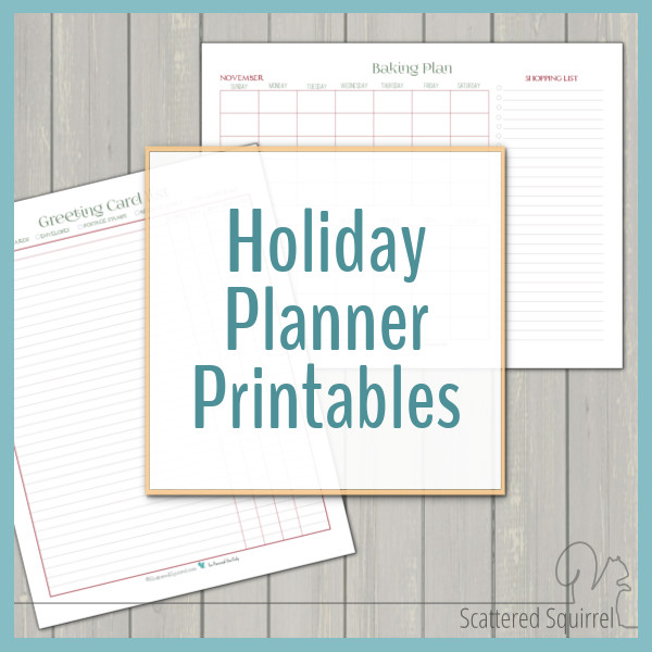 The holidays are full of so much fun! Use these holiday planner printables to make sure you don't miss a moment of it!