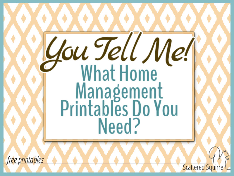 Are you looking for specific, free printables to help manage your home and family life? Fill out the form to send in your request for new home management printables.