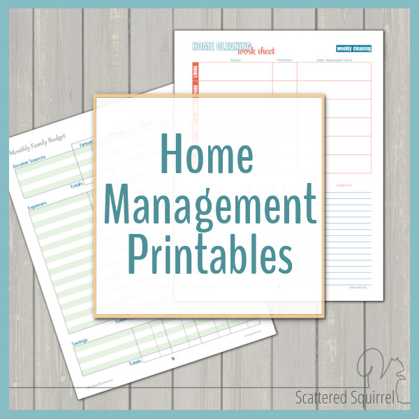 photograph about Free Printable Organizing Sheets known as House Manage - Absolutely free Printables