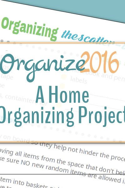 Come join us in tackling those home organizing projects! Make 2016 the year we all get organized.