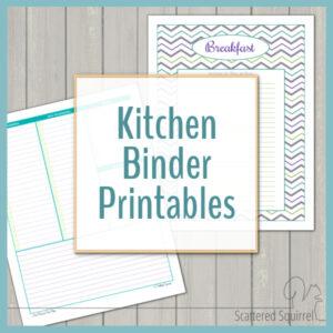 Kitchen Binder Printables