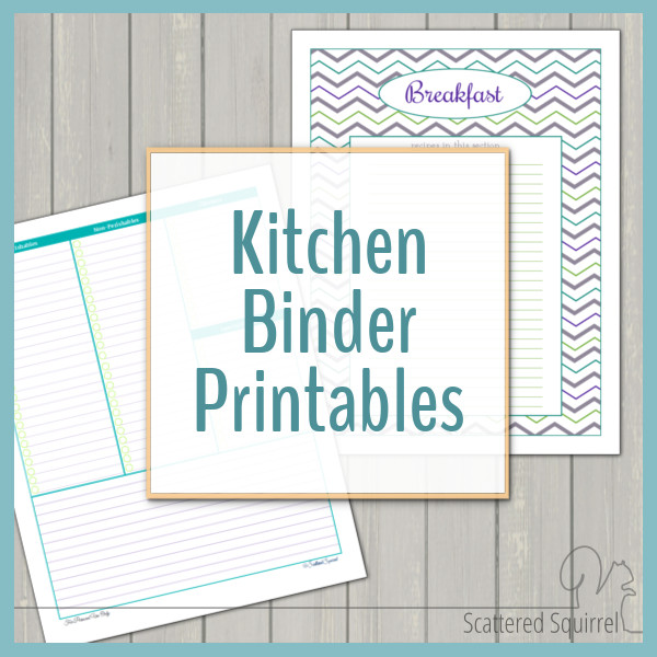 graphic about Coupon Binder Printable identify Kitchen area Binder Printables
