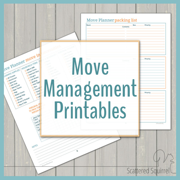 Planning a move? These move management printables will help keep you organized before, during and after the chaos.