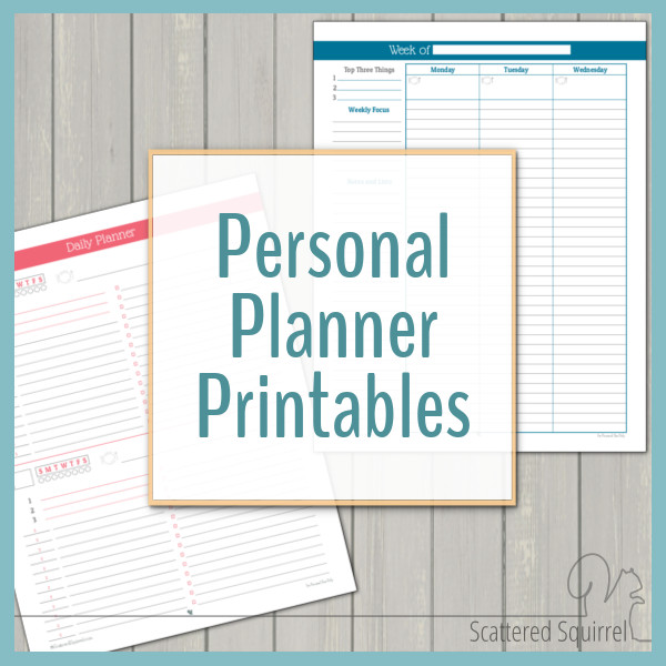 photo relating to Study Planner Printable named Particular person Planner - Totally free Printables