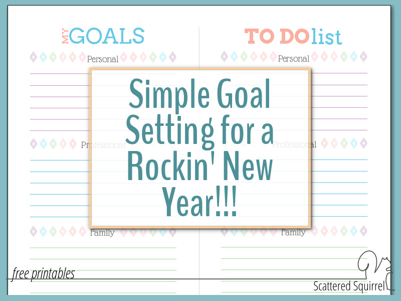 Goals don't have to be complicated! This year, try a more simple approach!.