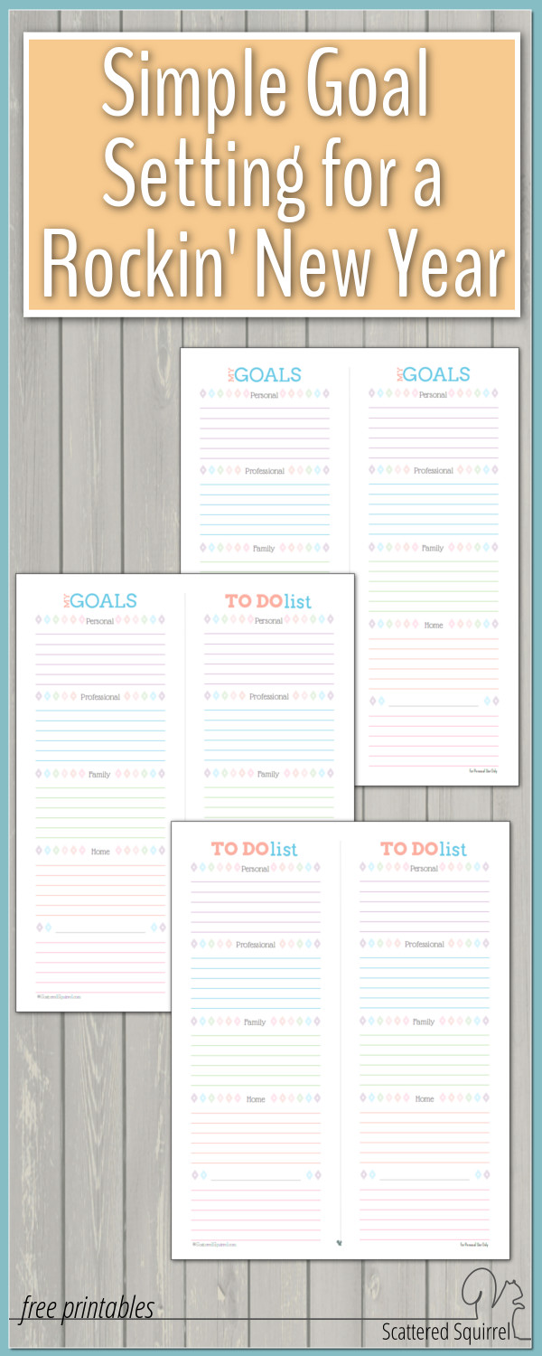 This year, ditch the complicated mapped out goals and give these simple goal setting printables a try.