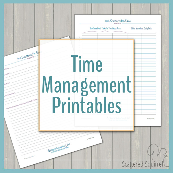 A great collection of time management printables to help you organize your time to fit your need, create routines and set and reach your goals.