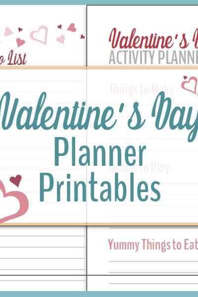 valentine's day planner printables, valentine's day themed list printable