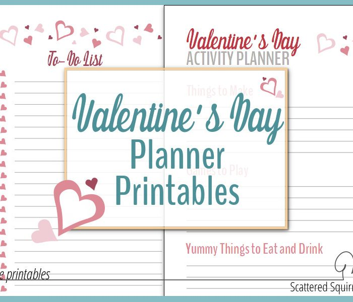 Have Some Valentine Fun with Valentine's Day Planner Printables