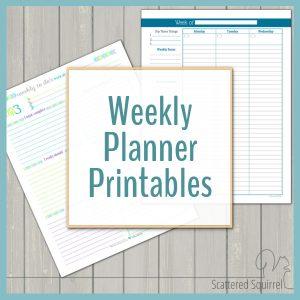 Weekly Planner Printables