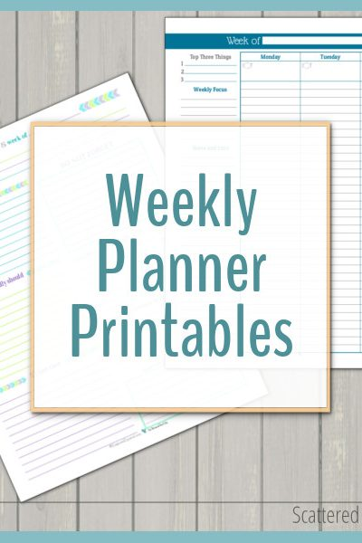 Weekly planner printables are a fantastic way to plan your days. They are great for seeing what's happening each week at a quick glance.