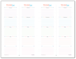 Designed to fit half-size planners and mini binders these To Do list printables divided by life section so you don't over extend yourself.