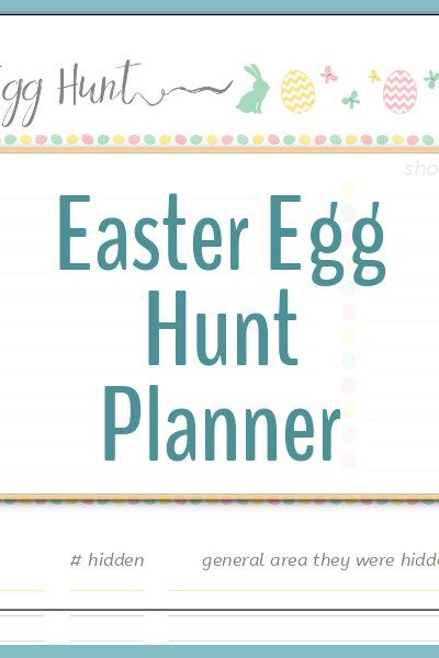 Never lose an egg again! Use the Easter Egg Hunt Planner to not only plan your egg hunt, but to keep track of how many you hid and, more importantly, how many were found!