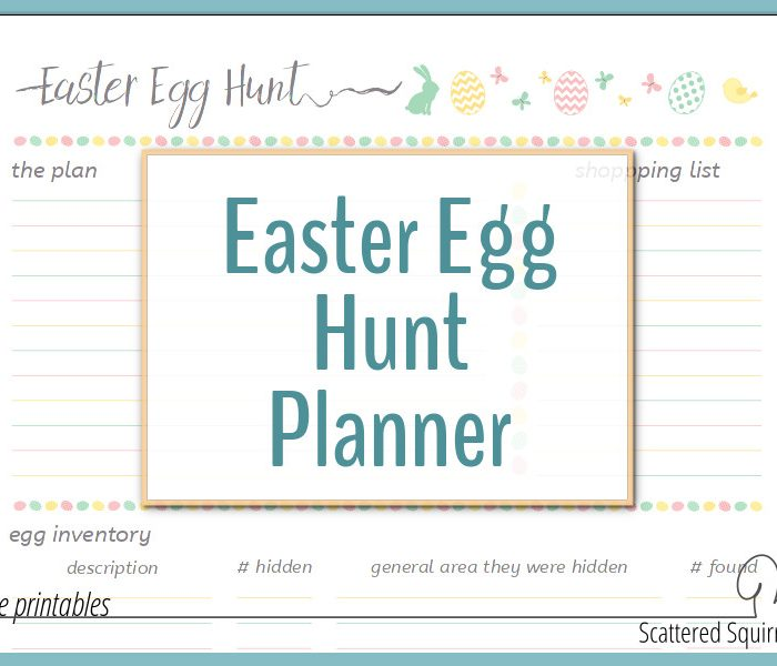 So Long Lost Eggs – Hello Easter Egg Hunt Planner