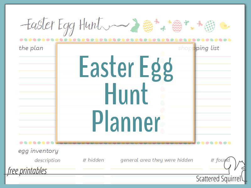 So Long Lost Eggs – Hello Easter Egg Hunt Planner