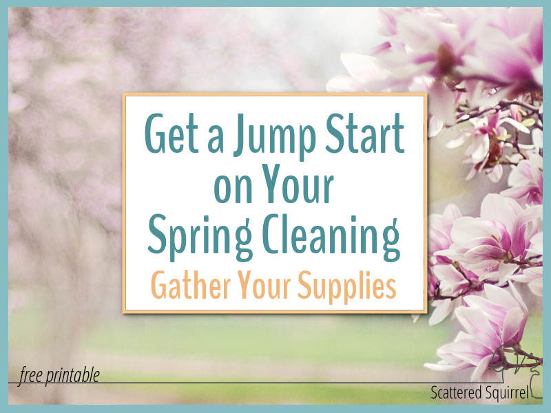e22e3efa9b05 Gather Your Supplies. Before you jump into spring cleaning it s a good idea  to make sure you have all
