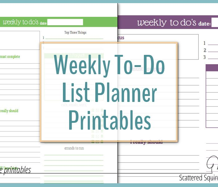 Plan Your Week with the New Weekly To-Do List Planner Printables