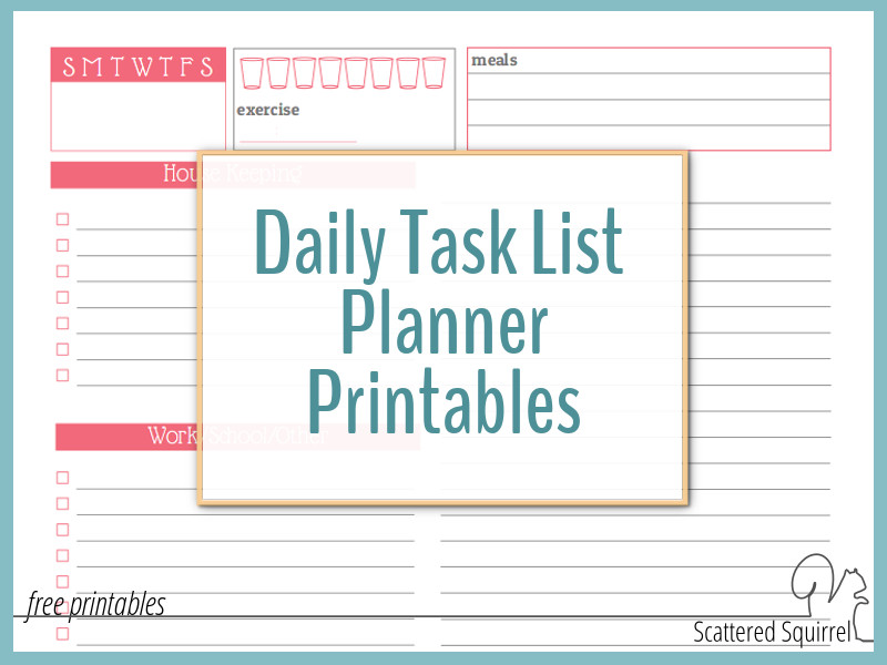 picture regarding Daily to Do List Printable called Seek the services of a Day-to-day Job Checklist Planner toward Keep away from Opinion Confused