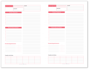 Half-Size Daily Task List Planner in Blush