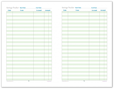 Track your savings with this handy half-size savings tracker printable.