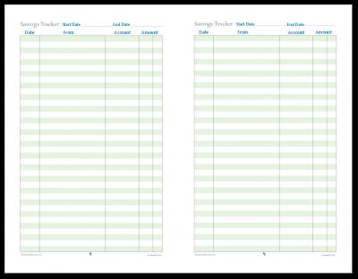 Track your savings with this handy half-size savings tracker printable.