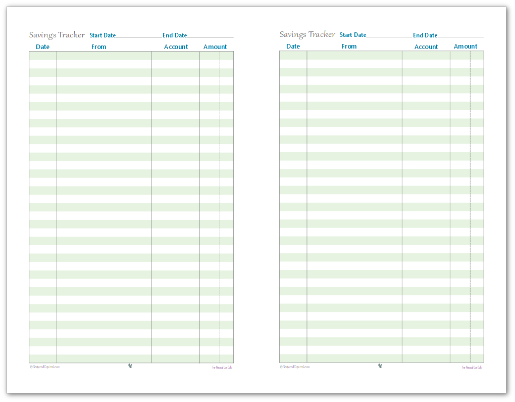 photograph about Printable Expense Tracker known as 50 percent-Measurement Finance Monitoring Printables