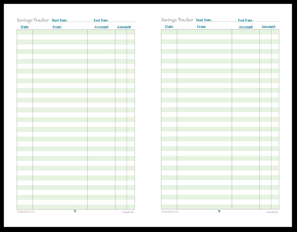Half Size Finance Tracking Printables