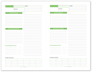 Half-Size Daily Task List Planner in Spring Grass