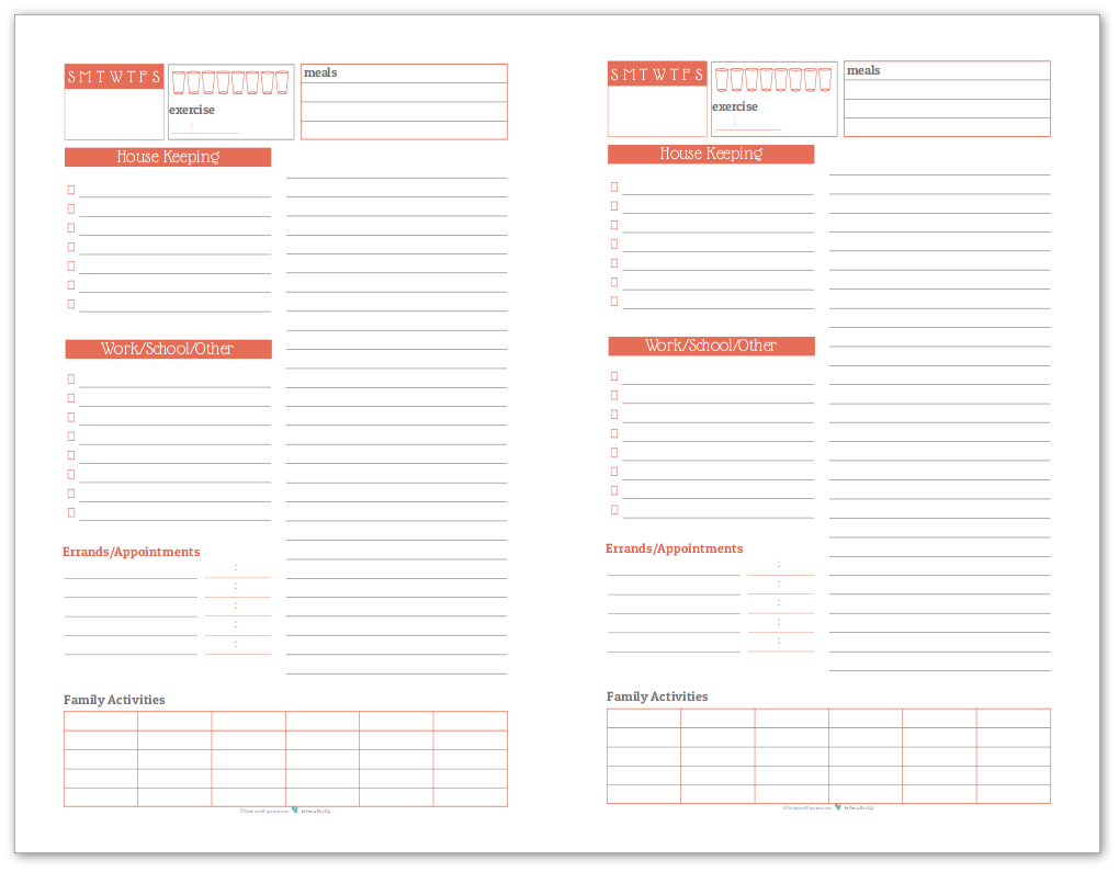 Half-Size Daily Task List Planner in Summer Orange