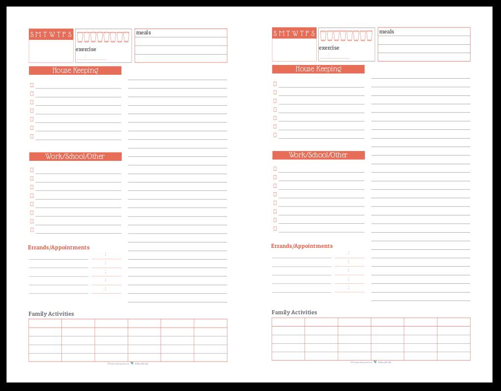 Half-Size Daily Task List Planner in Summer Orange