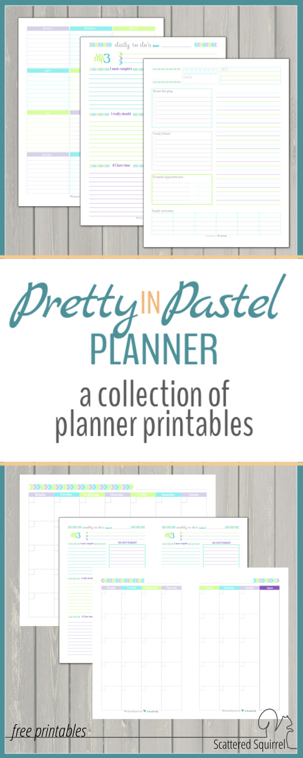 Matching planner pages are always a nice option. Now you can find all the pretty pastel planner printables in one spot!