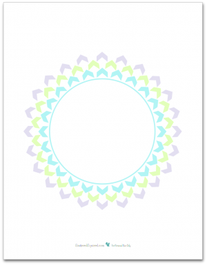 Pretty in Pastel Planner Cover Page - Letter Size