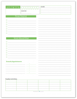 Daily Task List Planner in Spring Grass