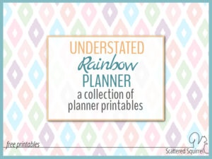 The Understated Rainbow planner collection was designed to match the 2016 calendars!