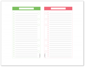 Personal size master to-do list printable in spring grass and blush