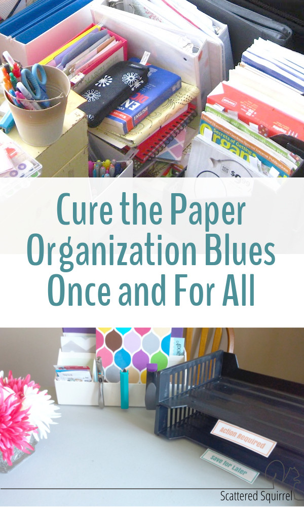 I don't know about you, but in my book, paper clutter is the worst kind of clutter. It's sneaky. It adds up fast and feels like it takes forever to deal with. This paper organization challenge is a great way to kick paper clutter to the curb and cure those paper organization blues once and for all.