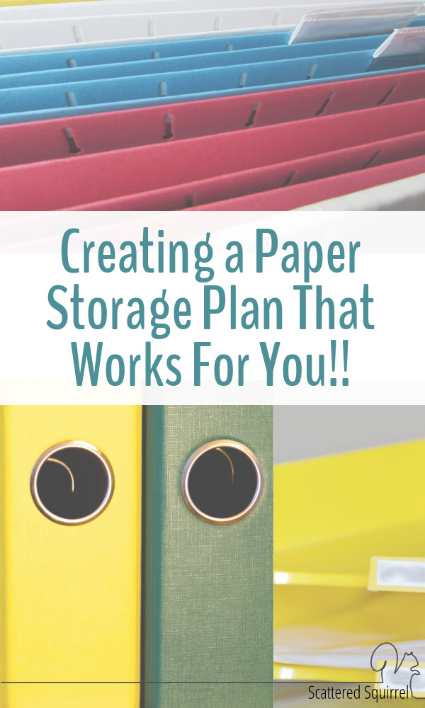 Creating a plan that will work for you for your long and short-term paper storage is a great way to lay the foundation for a paper organization system that will stand the test of time.