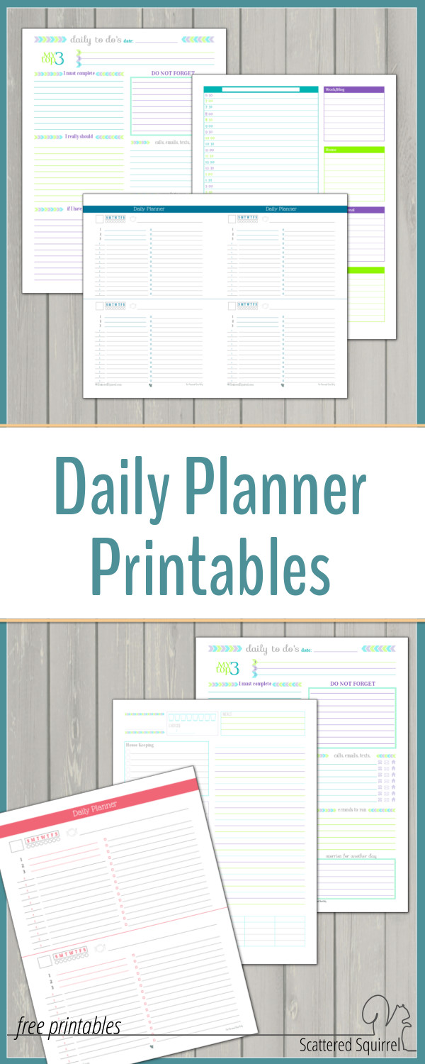 Sometimes busy days need a planner all their own. I know that there have been many days when having some on hand has come in so handy.These daily planner printables were designed for those who have busy days and need to a way to stay on track.