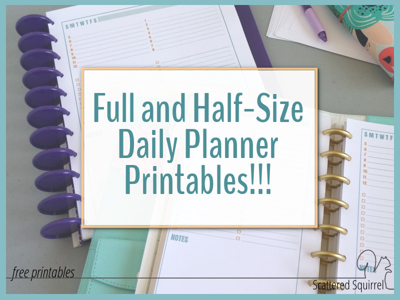 Daily planners are a great way to stay on track.